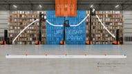 operaciones seguras con carretillas trilaterales en el almacén